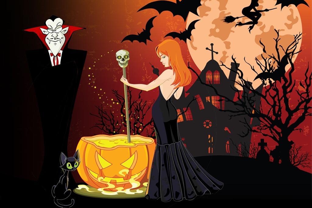 halloweenfest skattejagt børn