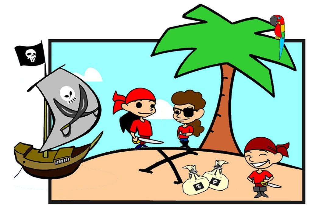 skattejagt piratfødselsdag